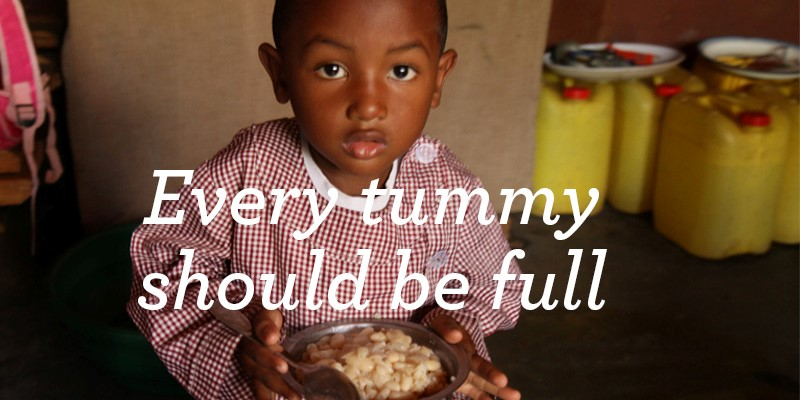 Child with a bowl of food
